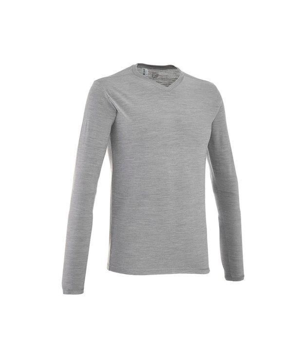 QUECHUA Techwool Men's Long Sleeve T-Shirt