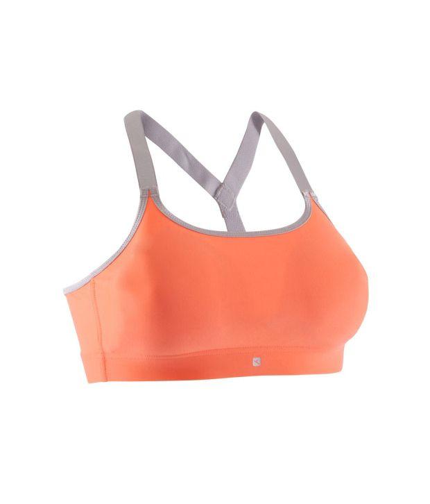 DOMYOS Active Women's Fitness Padded Crop Top