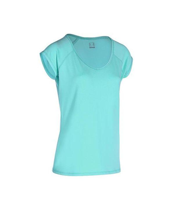 DOMYOS Comfort Plus Slim Women's Fitness T-shirt
