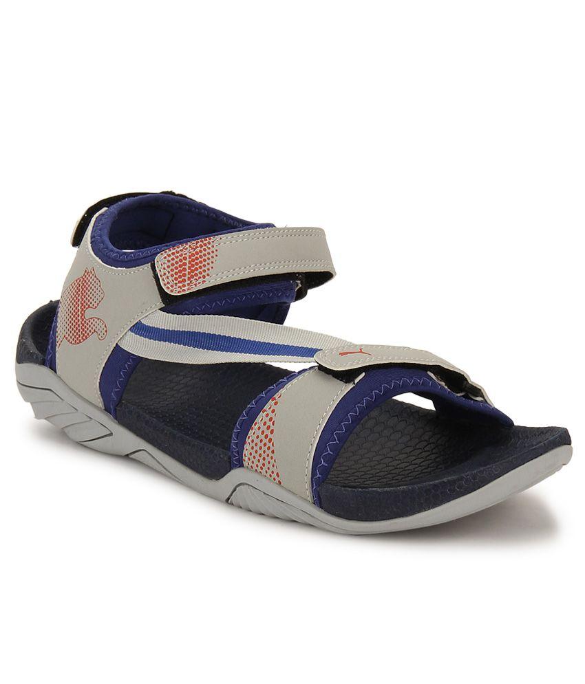 8e37e464b15 Puma K9 DP Gray Floater Sandals - Buy Puma K9 DP Gray Floater ...