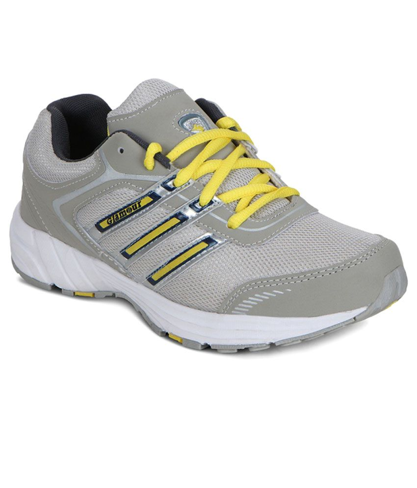 Glamour Gray Running Shoes