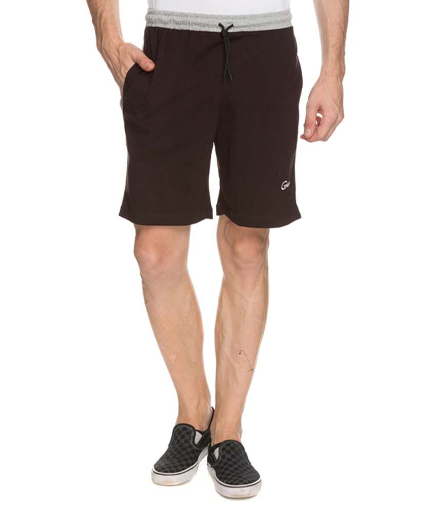 Genx Brown Shorts PAIR IT UP WITH GENX T-SHIRT AND VEST