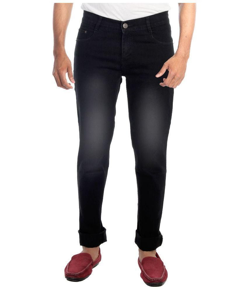 Haltung Black Slim Fit Faded Jeans
