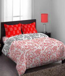 Stellar Home Multicolor Cotton Single Bedsheet