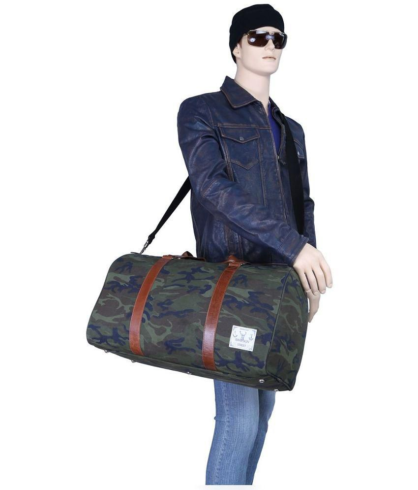 5d8fb8a4fb Bareskin Canvas Green Duffle Bag - Buy Bareskin Canvas Green Duffle ...