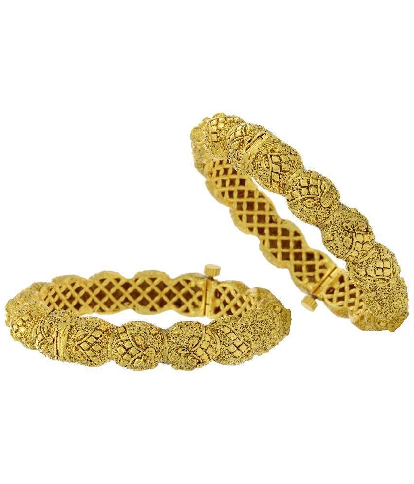 Prisha Golden Copper Pair of Bangles