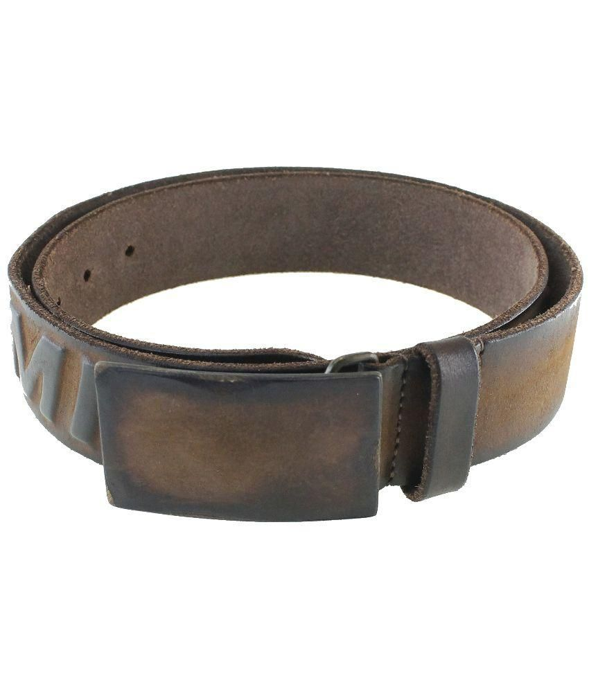 Swiss Military Brown Leather Autolock Buckle Belt for Men