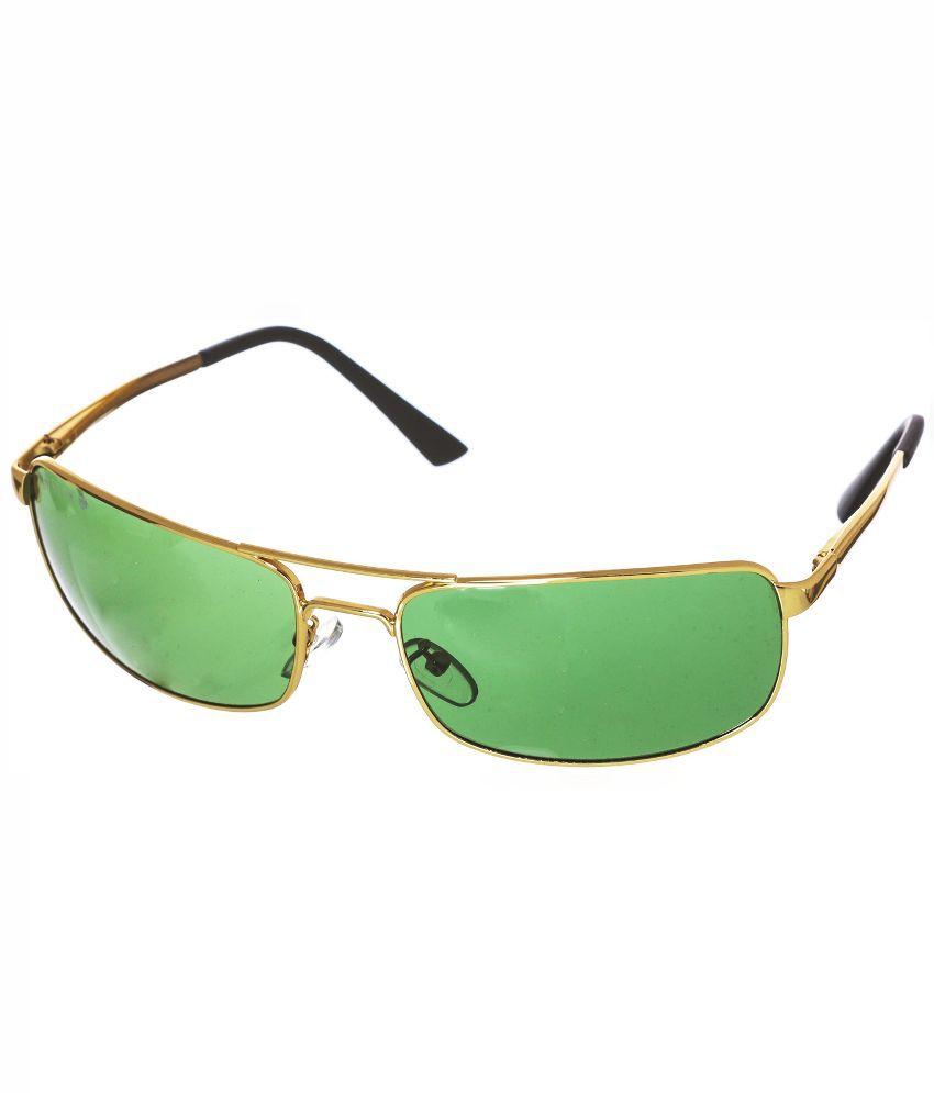 Aislin Green Wrap Around Sunglasses ( 3212 )