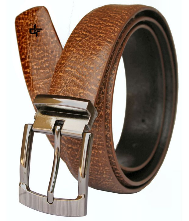 Discover Fashion Brown PU leather Belt For Men