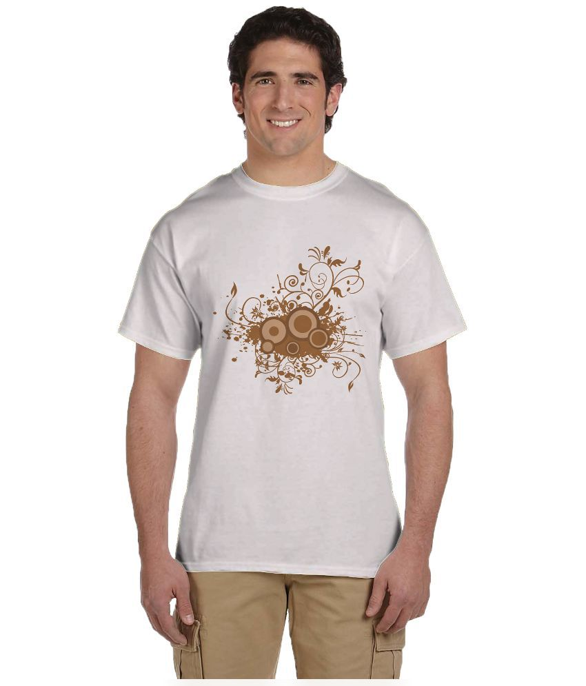 Haunting Dragons White Round T Shirt