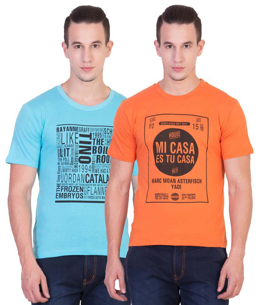 Xscape Multi Round T Shirt Pack of 2