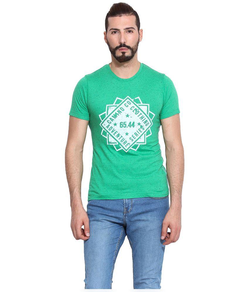 Camino Green Round T Shirt