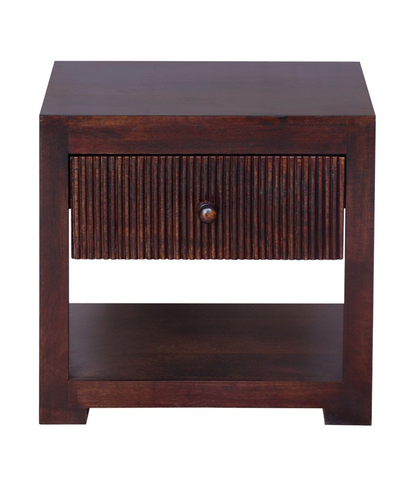 Inliving Brava Solid Wood Bed Side Table