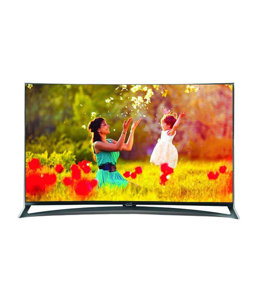 Videocon VKT55CX0ZSA 140 cm (55) Curved Ultra HD (4K) 3D Smart LED Television