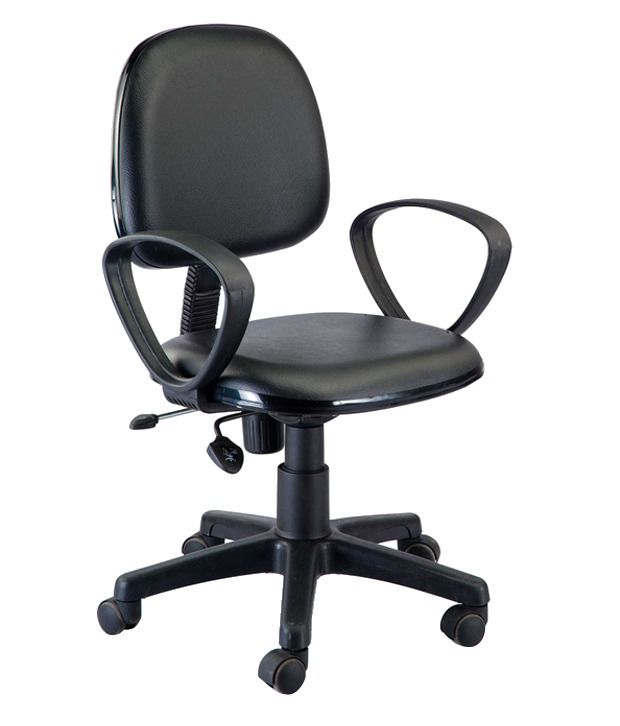 Classic Revolving Office Chair In Black Available At SnapDeal For
