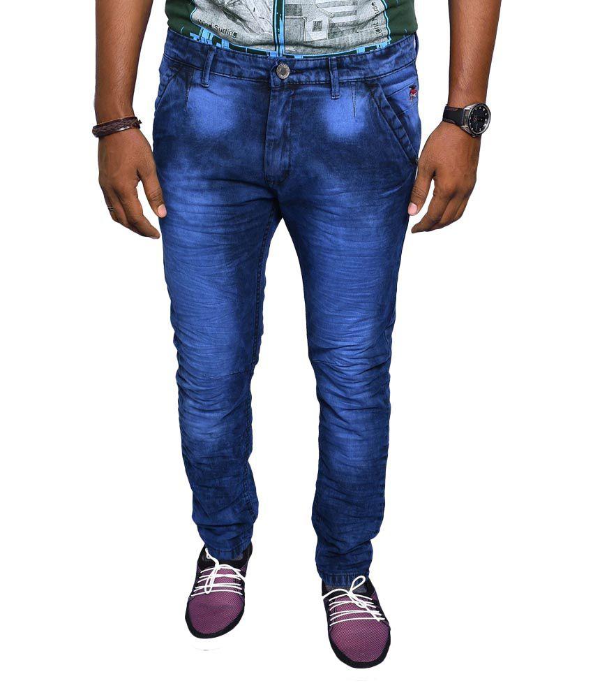 Jugend Blue Skinny Fit Washed Jeans