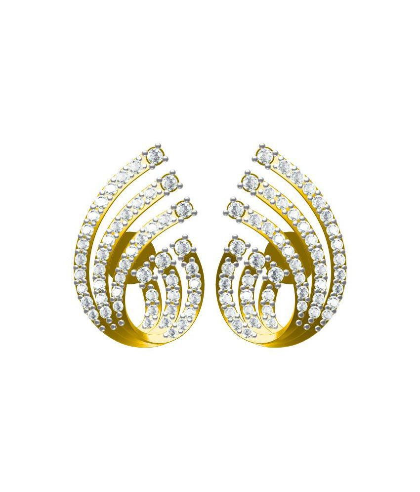 Sakshi Jewels 14kt Gold BIS Hallmarked Stud Earring