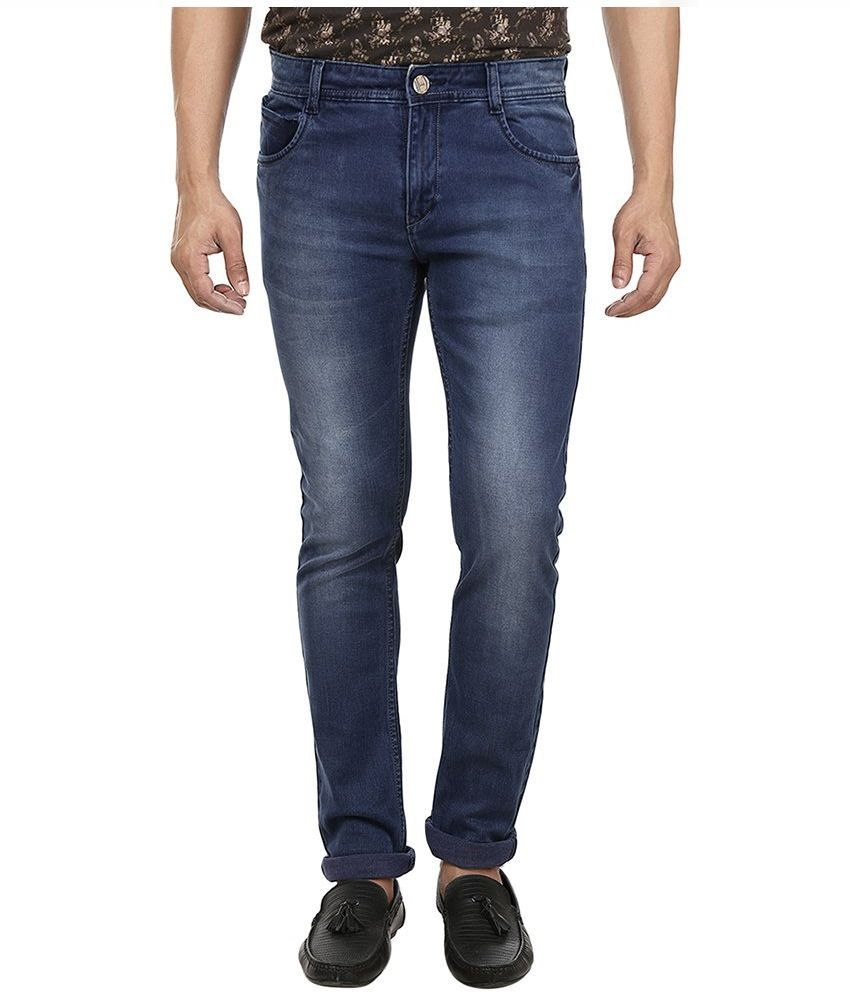 Fever Blue Slim Fit Solid Jeans