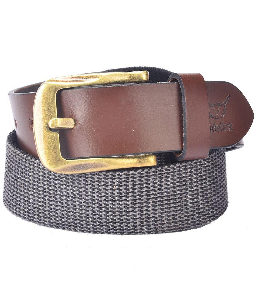 Hidelink Brown Leather Formal Belt for Men