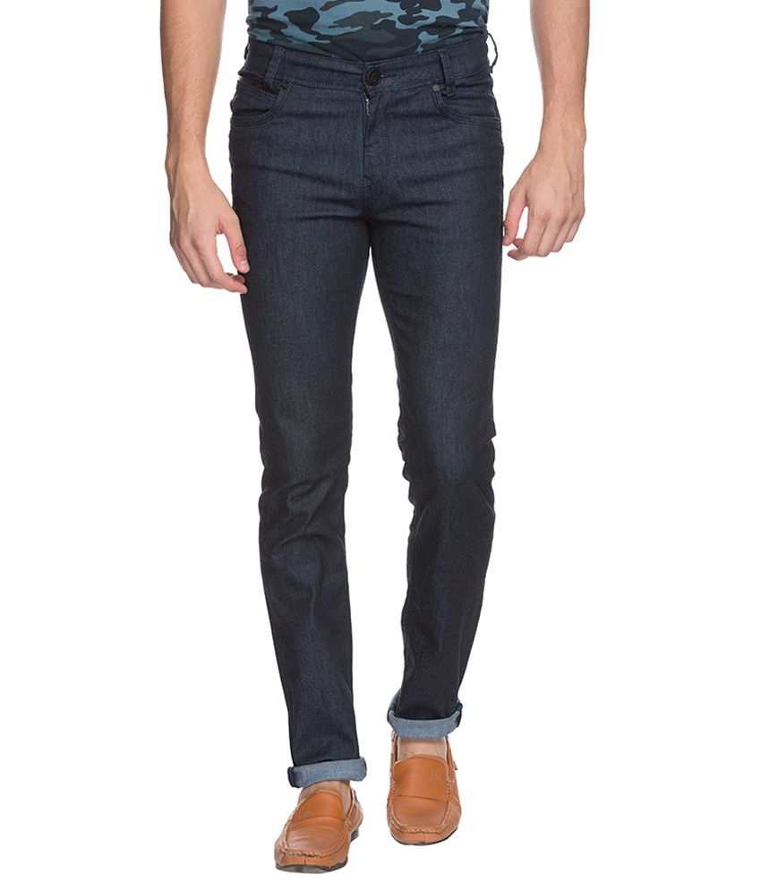 Mufti Blue Tapered Fit Jeans