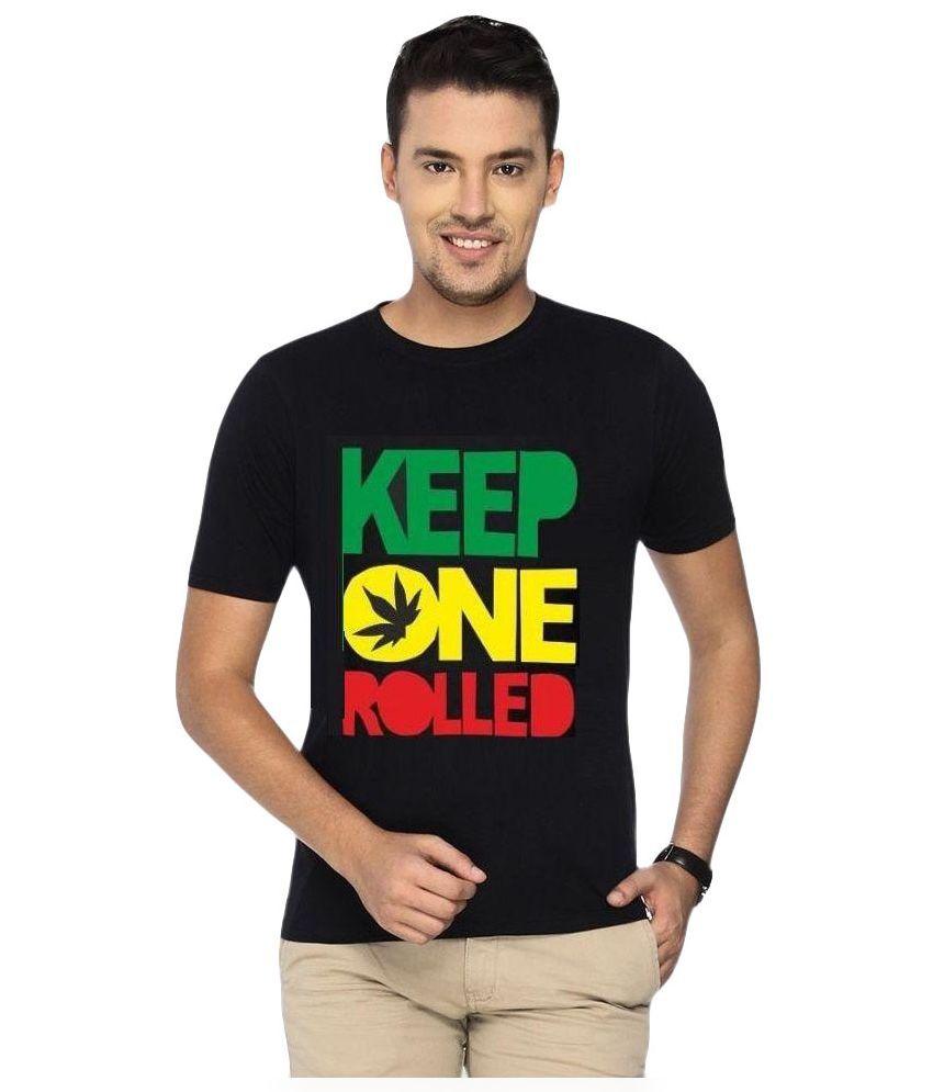 The Malabis Lifestyle Black Round T Shirt