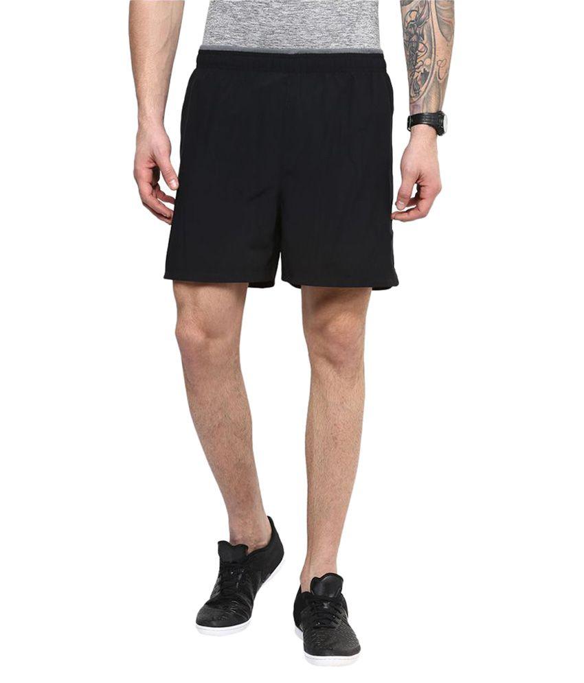 Trendbae Black Polyster Shorts