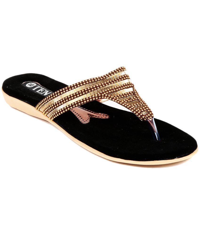 TEN Gold Slippers