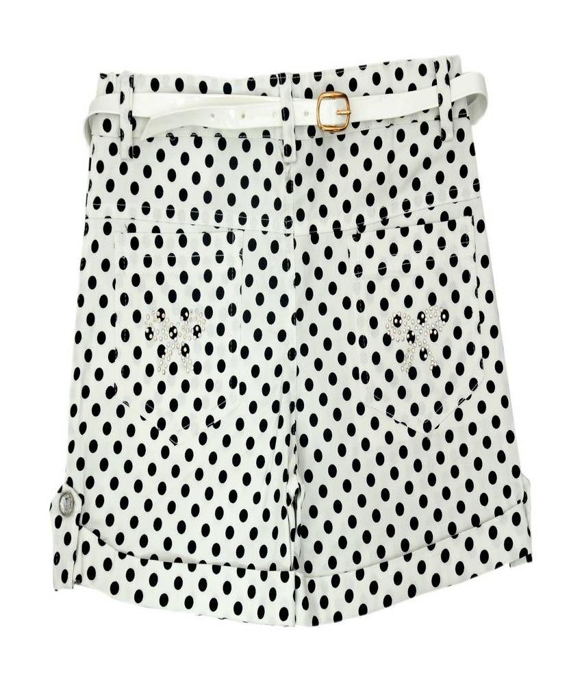 Titrit White Cotton Short