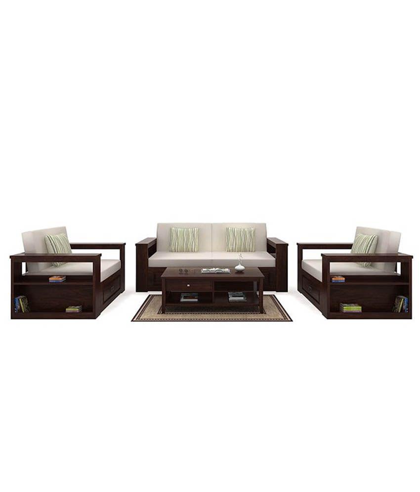 ethnic india art sarth soild wood 5 seater sofa set with storage rh snapdeal com
