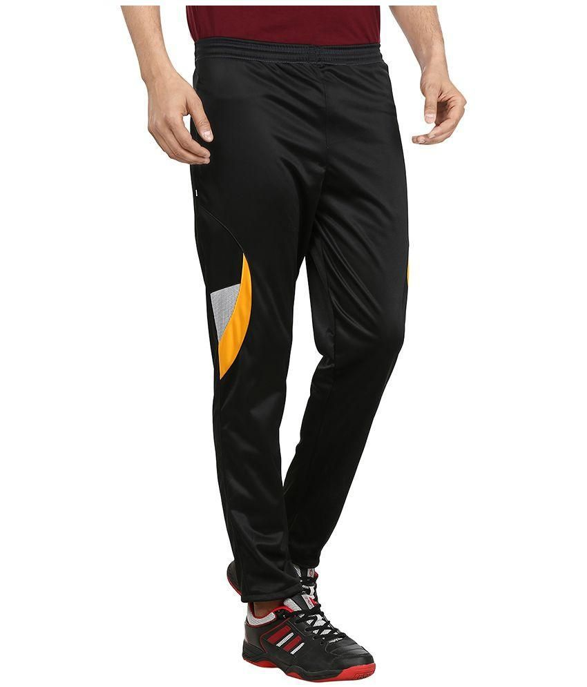 26478b2d15 Gumber Black Nylon Trackpants