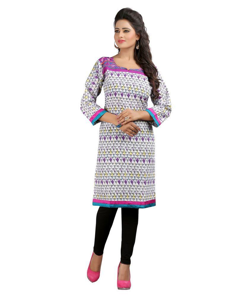 Asha Fashion Multicoloured Poly Rayon Straight Kurti