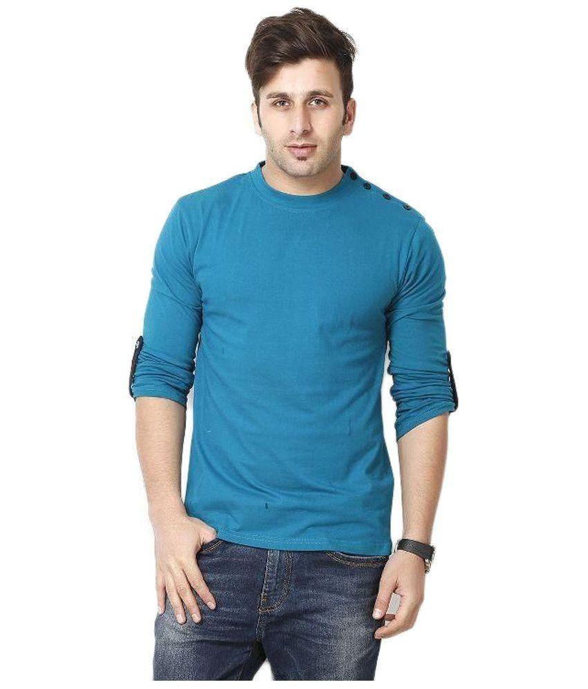 Gritstones Blue Round T Shirt