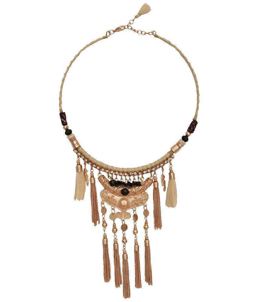 Gypsy Hoop Multicolour Zinc Necklace