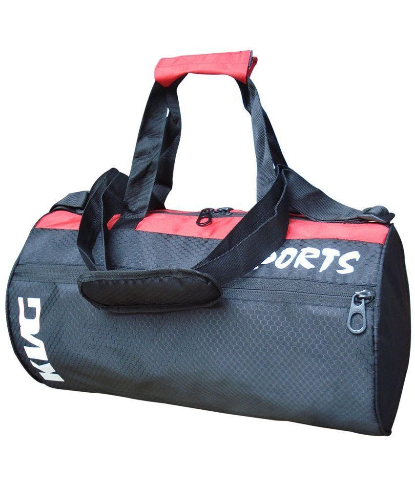 KVG Black Medium Polyester Gym Bag