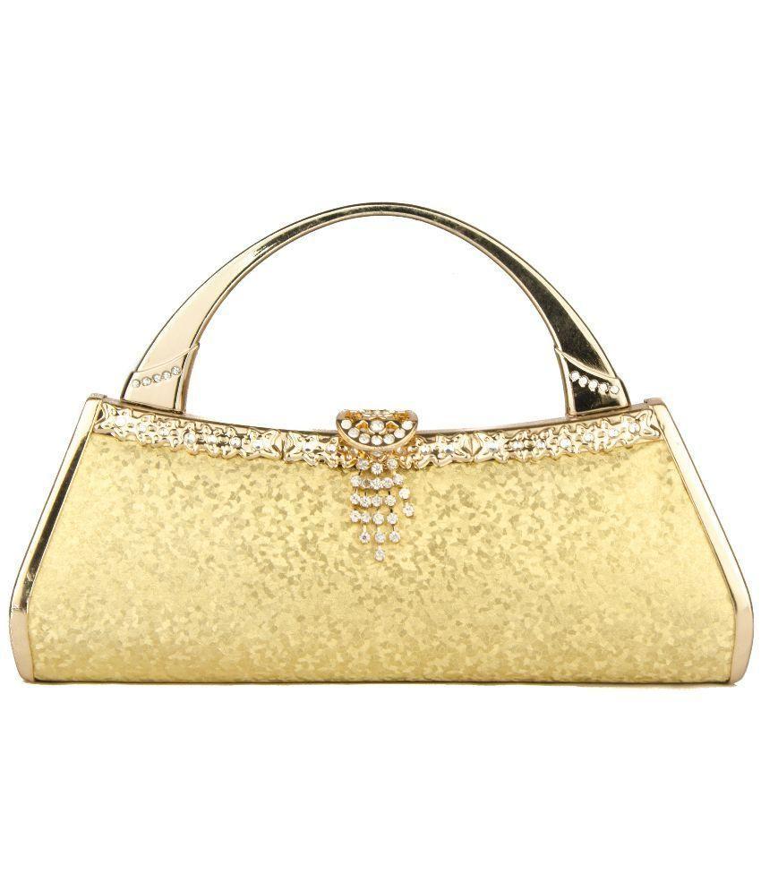 Mesta Gold Silk Clutch