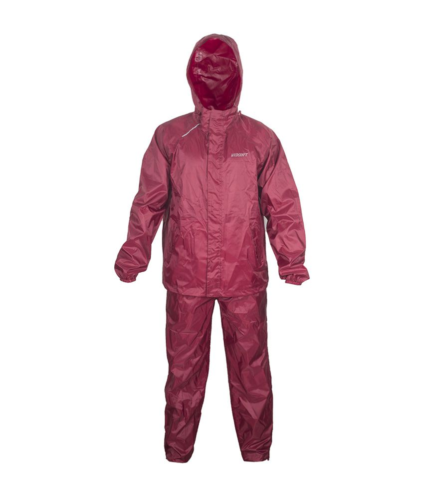 Wildcraft Basic Plus Rain Suit - Monk Red