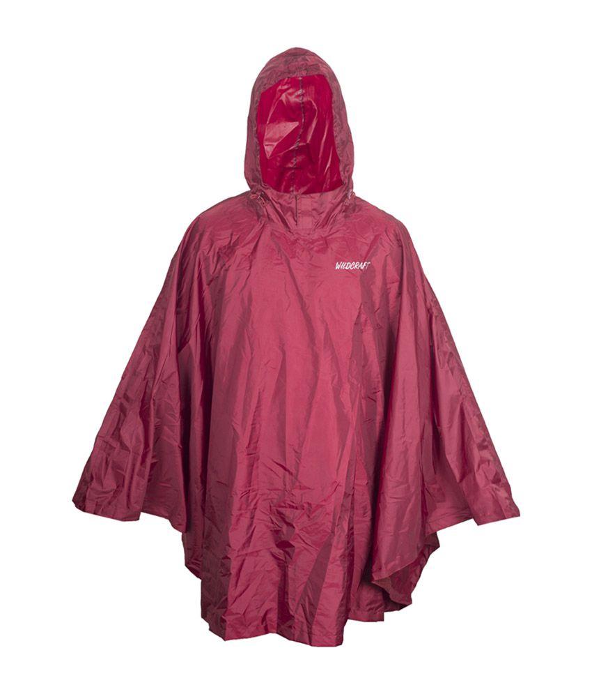 Wildcraft Basic Rain Poncho - Monk Red