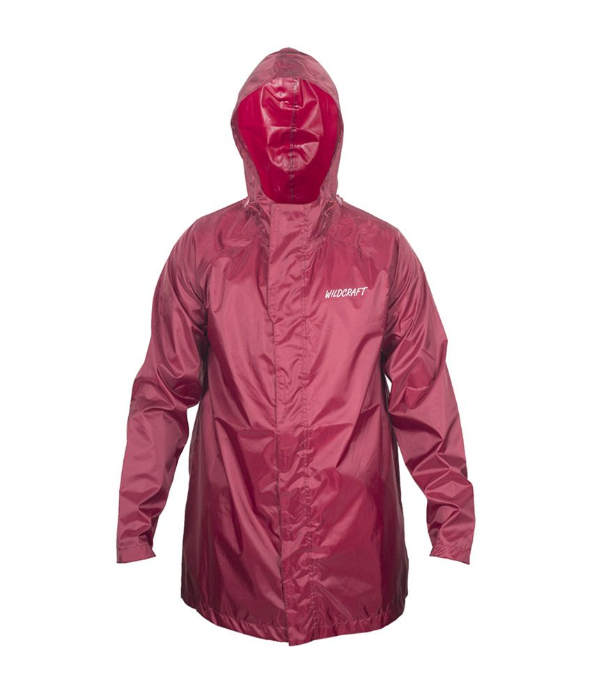 Wildcraft Basic Raincoat - Monk Red