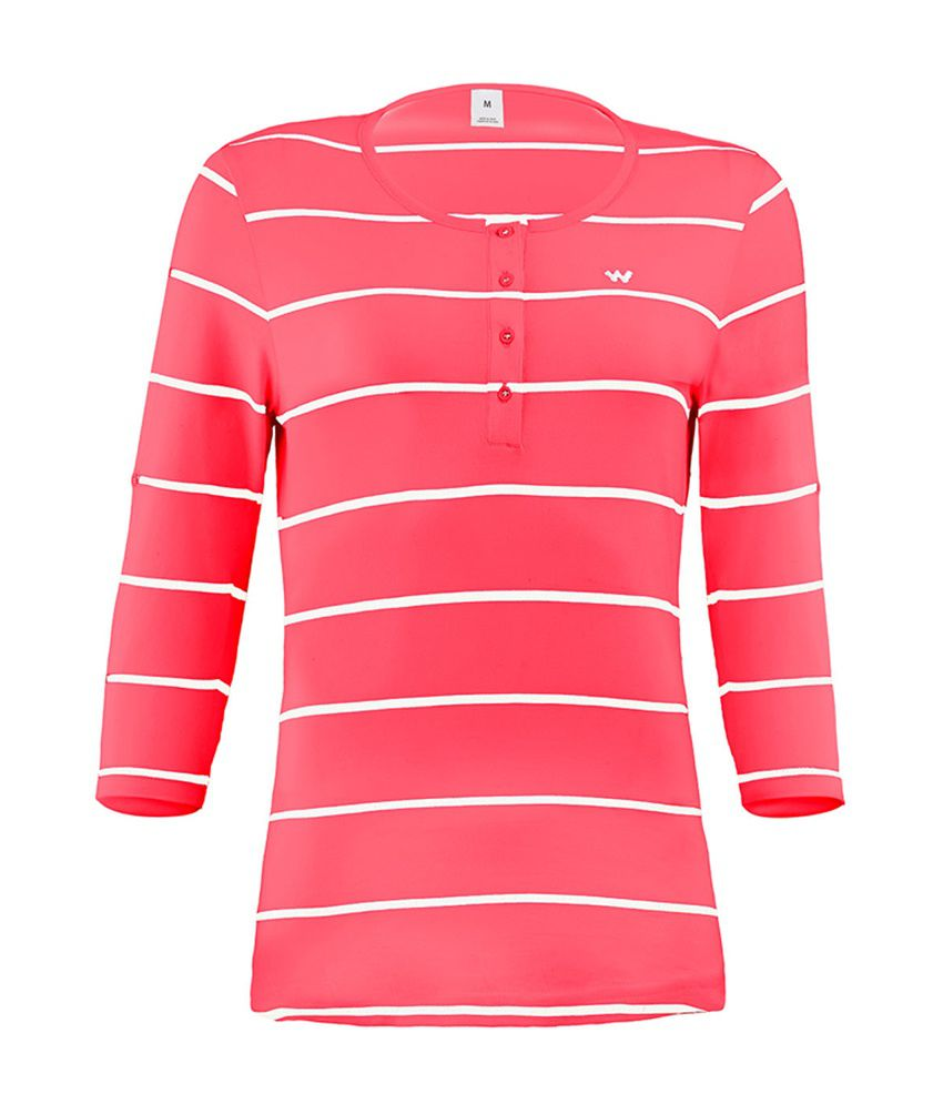 Wildcraft Essential Henley T-Shirt - Red