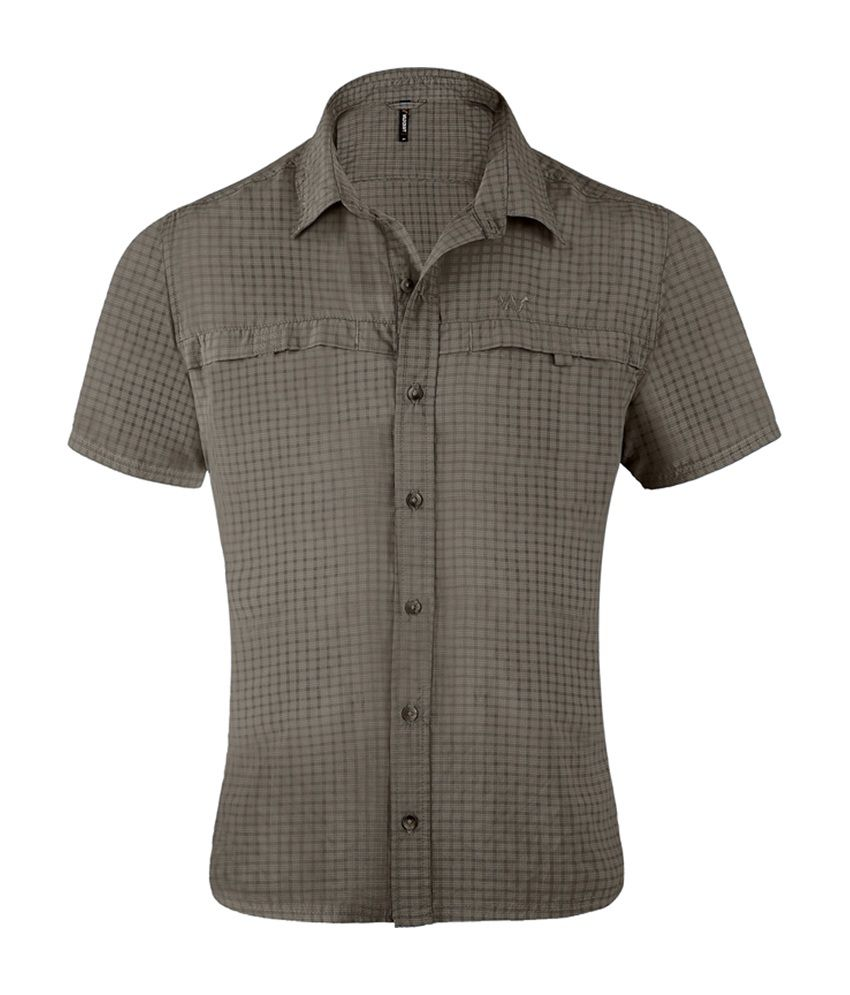 Wildcraft Men's HS Hiking Shirt - Grey