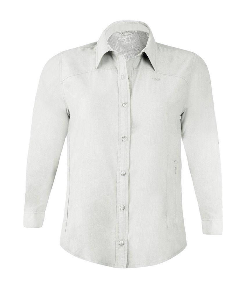 Wildcraft Women's FS Hiking Shirt - White