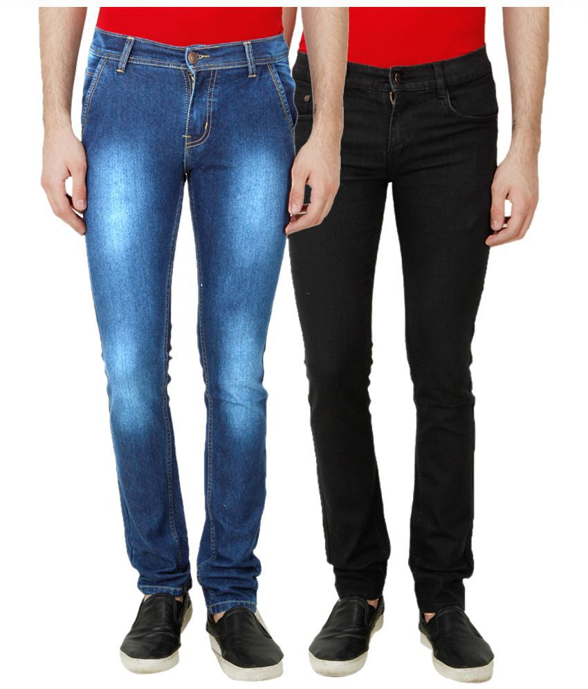 Ansh Fashion Wear Multi Regular Fit Solid Jeans Pack of 2