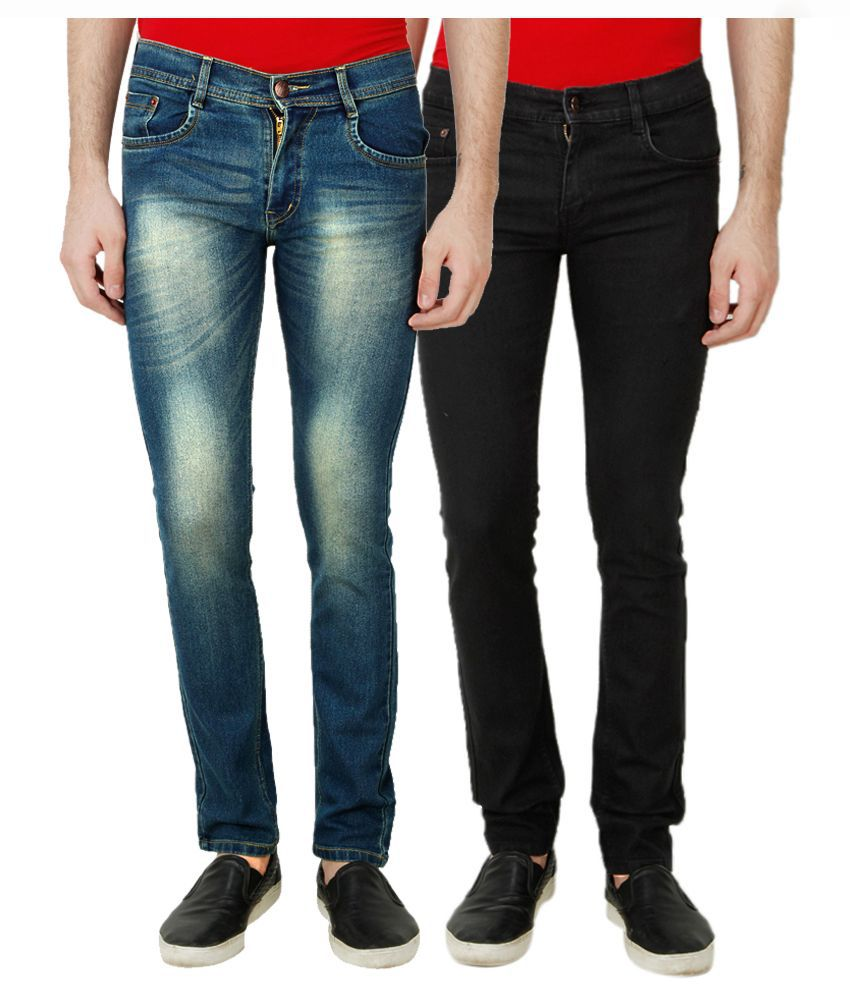 Ansh Fashion Wear Multi Regular Fit Solid Jeans