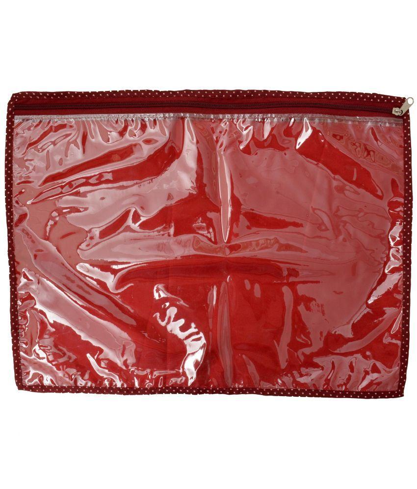 Srajanaa Red Saree Cover - Set of 6
