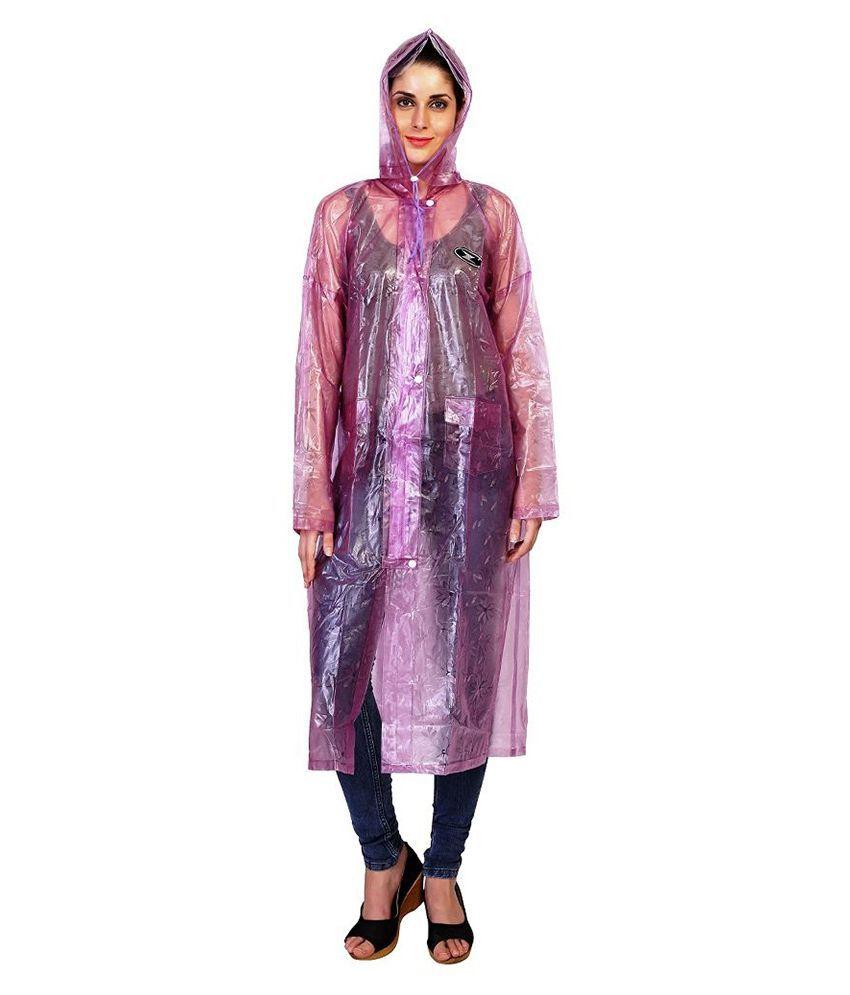 Zeel Purple Waterproof Raincoat