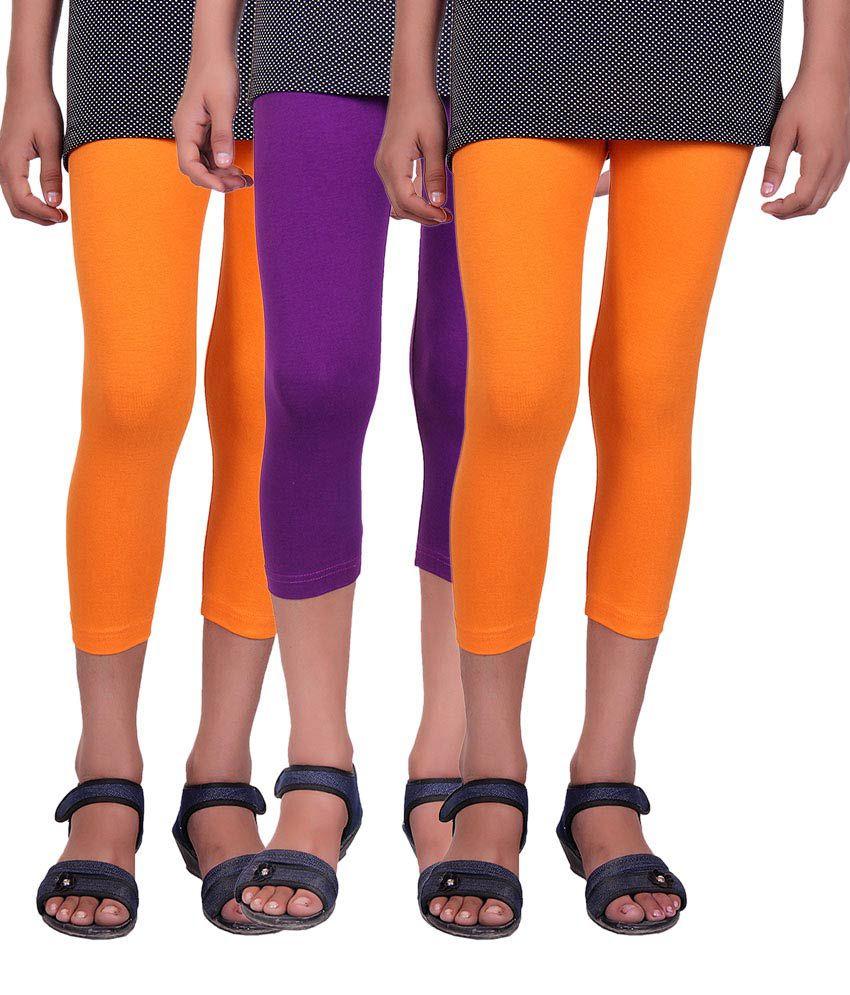 Alisha Multicolour Capri - Pack of 3