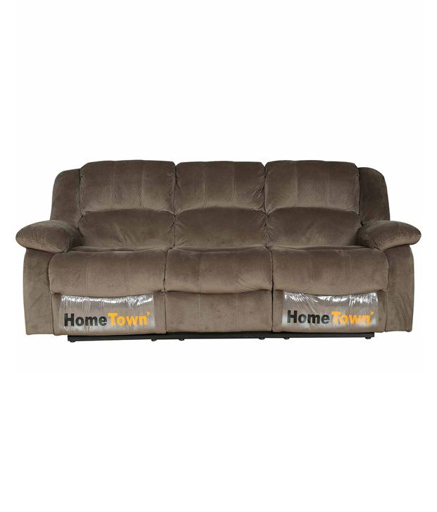 Surprising Hometown Rhea Fabric 3 Seater Recliner Buy Hometown Rhea Unemploymentrelief Wooden Chair Designs For Living Room Unemploymentrelieforg