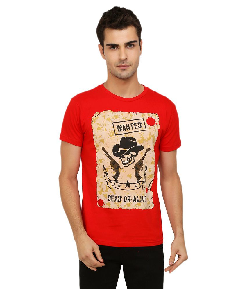 Imagica Red Round T Shirt