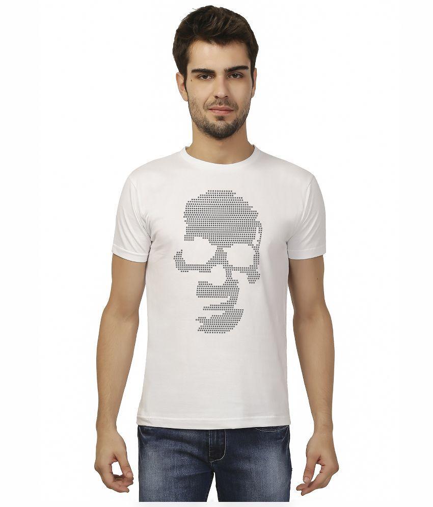 Imagica White Round T Shirt