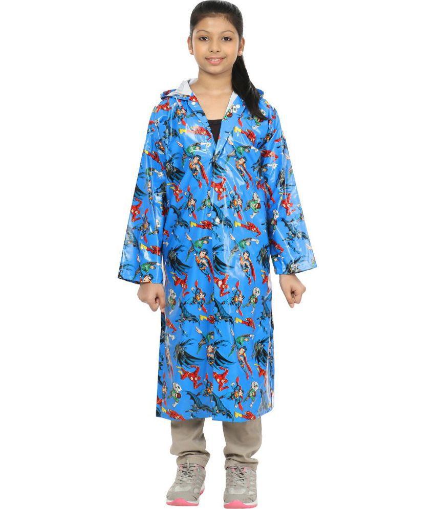 Inside Fashion Multicolour Viscose Raincoat for Girls